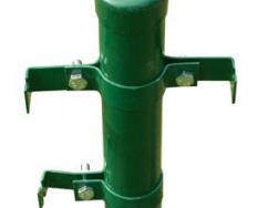 Eisenpfahl mit Zwischenpfahlbügel (oben) und Endpfahlbügel (unten)